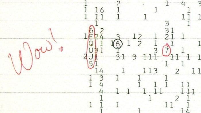 La señal Wow! pudo ser originada por cometas, no por aliens