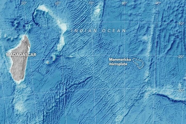 Nueva microplaca tectónica descubierta aporta datos sobre el movimiento de los continentes