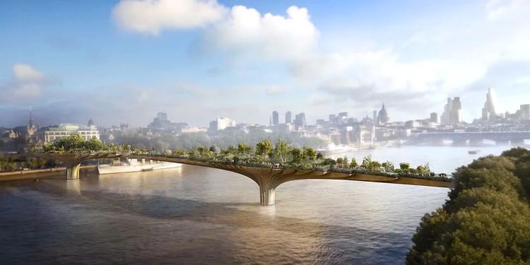 Londres proyecta un jardín sobre el Támesis