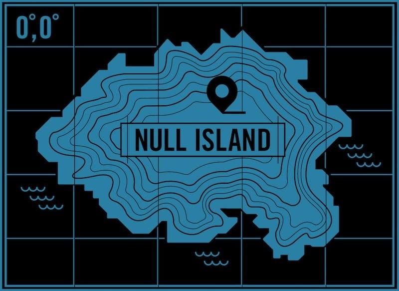 Null Island, la isla situada en latitud 0 y longitud 0