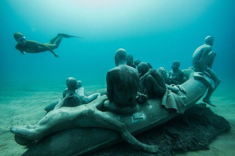 Lanzarote inaugura primer museo artistico submarino Europa 1
