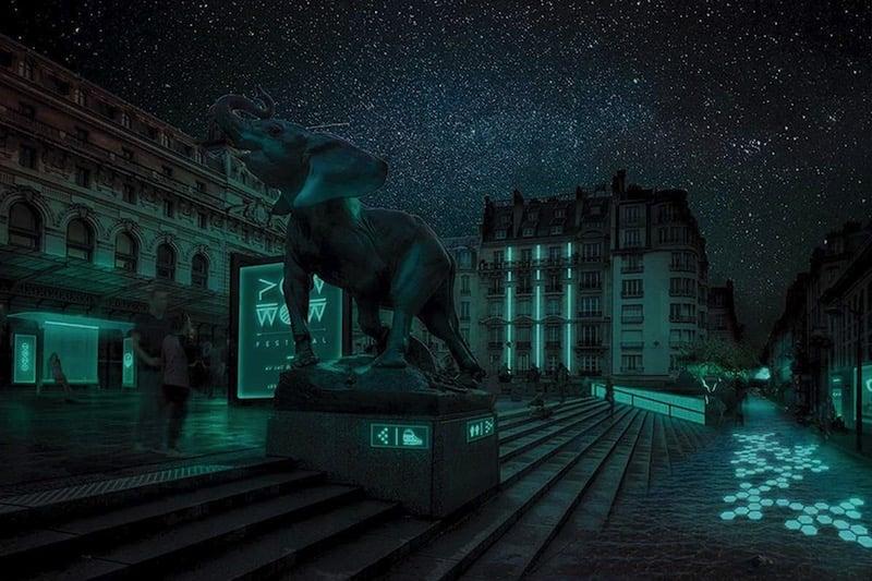 Bacterias bioluminiscentes para iluminar las calles de París