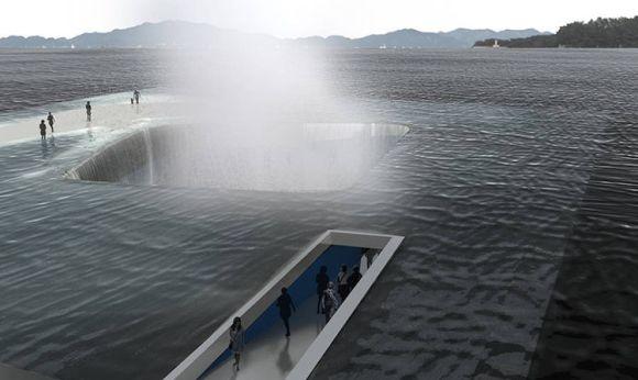 Arquitectos españoles diseñan pabellon suimerge emerge mar