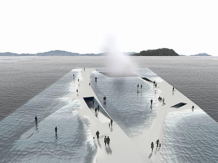 Arquitectos españoles diseñan un pabellón que se sumerge y emerge del mar