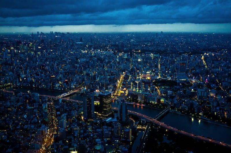 Vista desde el mirador de Tokio Skytree