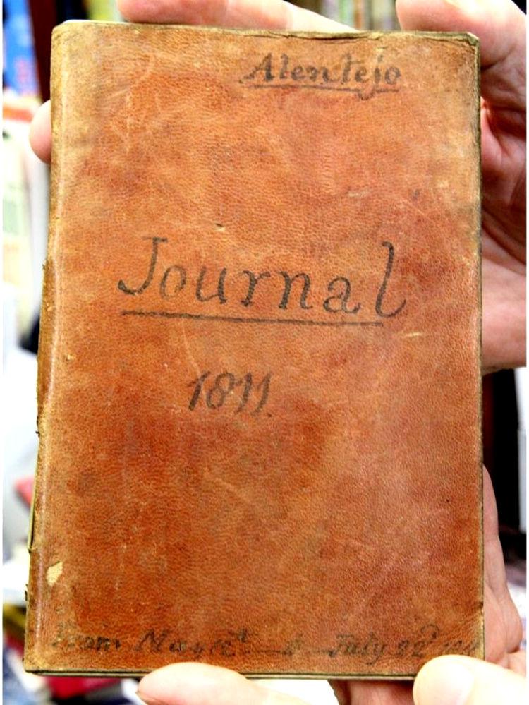 Encuentran libreria viejo diario soldado guerras napoleonicas 1