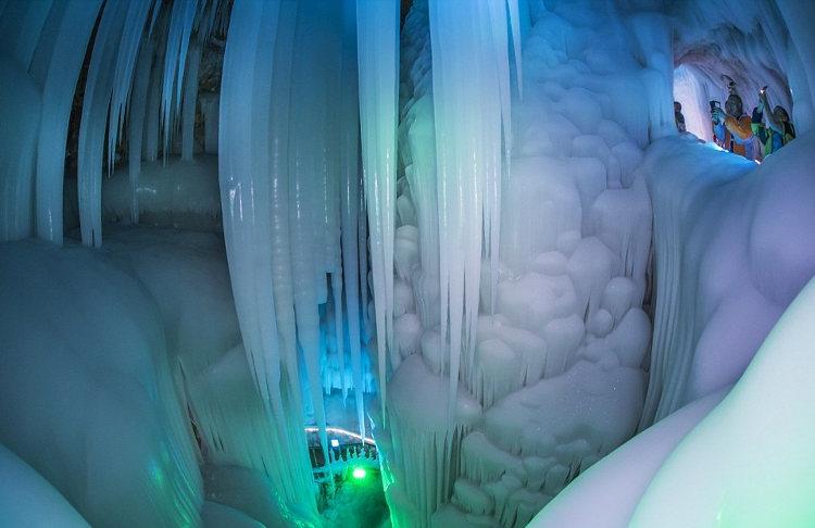 Gran cueva hielo china no derrite verano