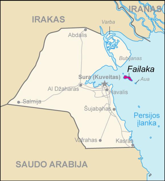 Situación de Failaka en Kuwait
