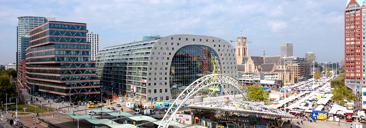 Markthal, la mayor estructura de Europa sostenida por cables de acero