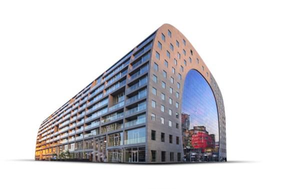 Markthal mercado futurista icono Roterdam