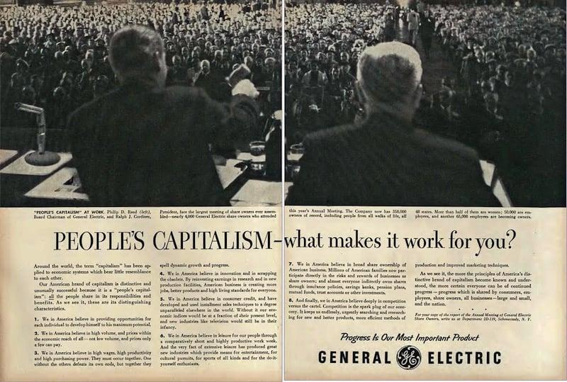 Capitalismo Popular, el concepto propagandístico inventado por los norteamericanos en los años 50