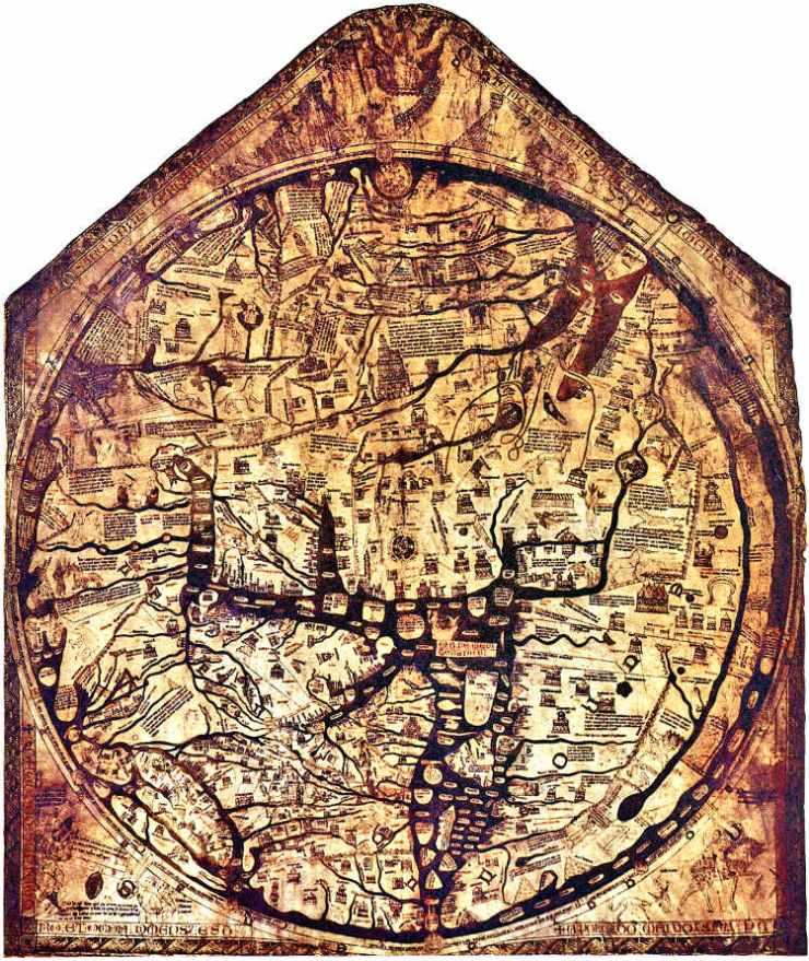 los mapamundis de hereford y ebstorf los mapas medievales m s grandes del mundo. Black Bedroom Furniture Sets. Home Design Ideas