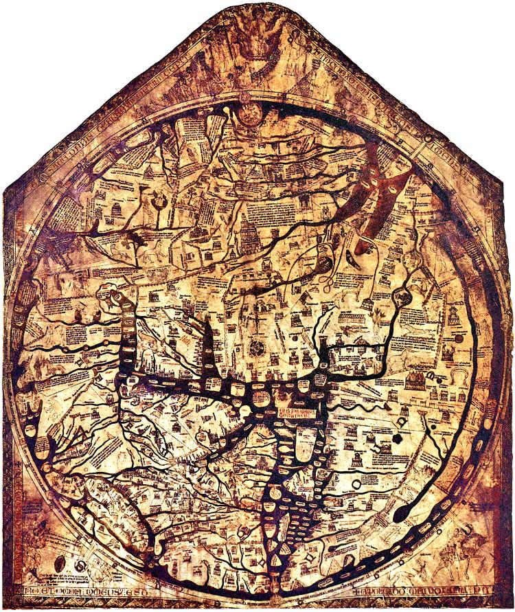 Mapamundia Hereford Ebestorf atlas visuales Medievo