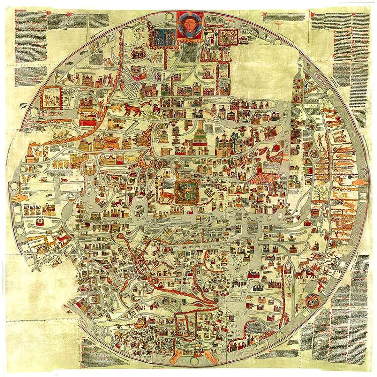 Mapamundis Hefrod Ebstorfer atlas visuales Medievo