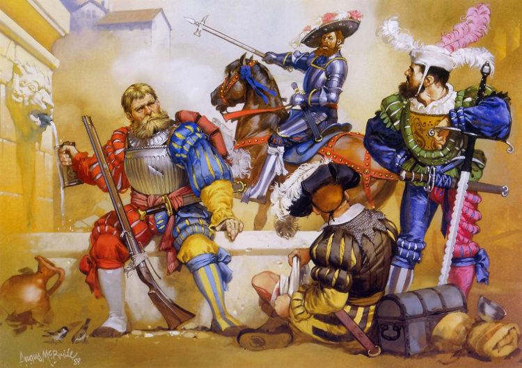 Lansquenetes alemanes durante el Saco de roma
