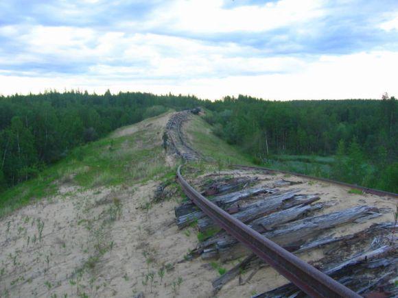 Transpolar ferrocarril Muerte siberiano