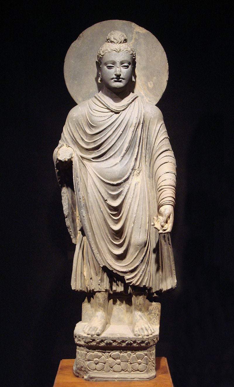 Una de las primeras esculturas de Buda