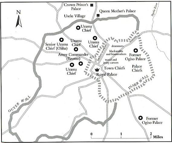 Mapa de las murallas / foto Kingdom of Benin