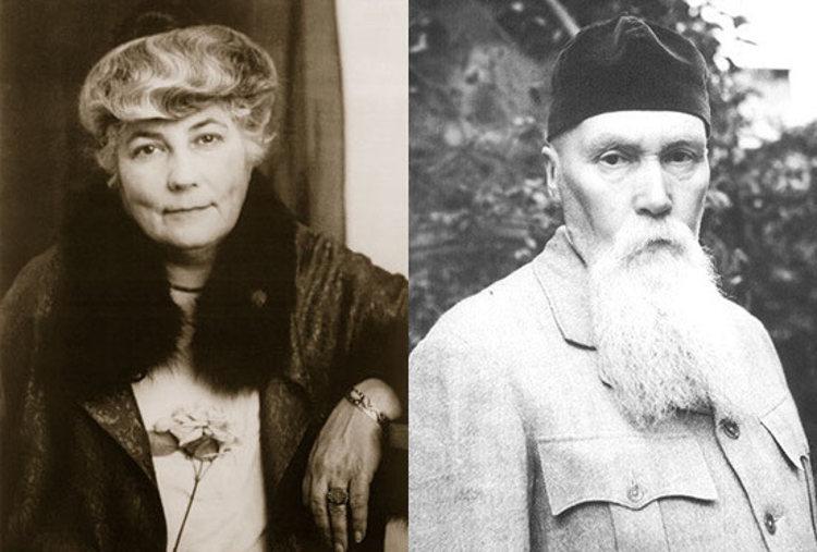 Helena y Nikolí Roerich