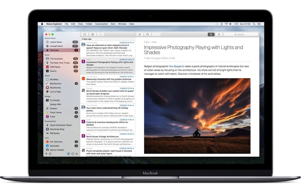 News Explorer, un nuevo lector de feeds para Mac e iOS con sincronización iCloud