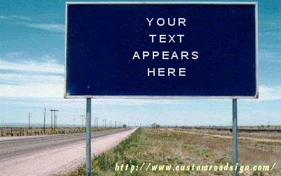 Crea tu propia señal de carretera