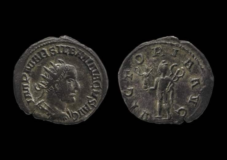 Moneda de Silbanaco / foto Museo Británico