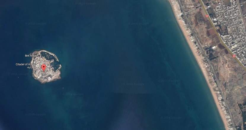 Isla de Ruad en Google Maps