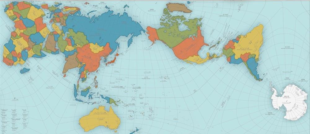 Authagraph, un mapa del mundo que muestra las auténticas proporciones de los continentes