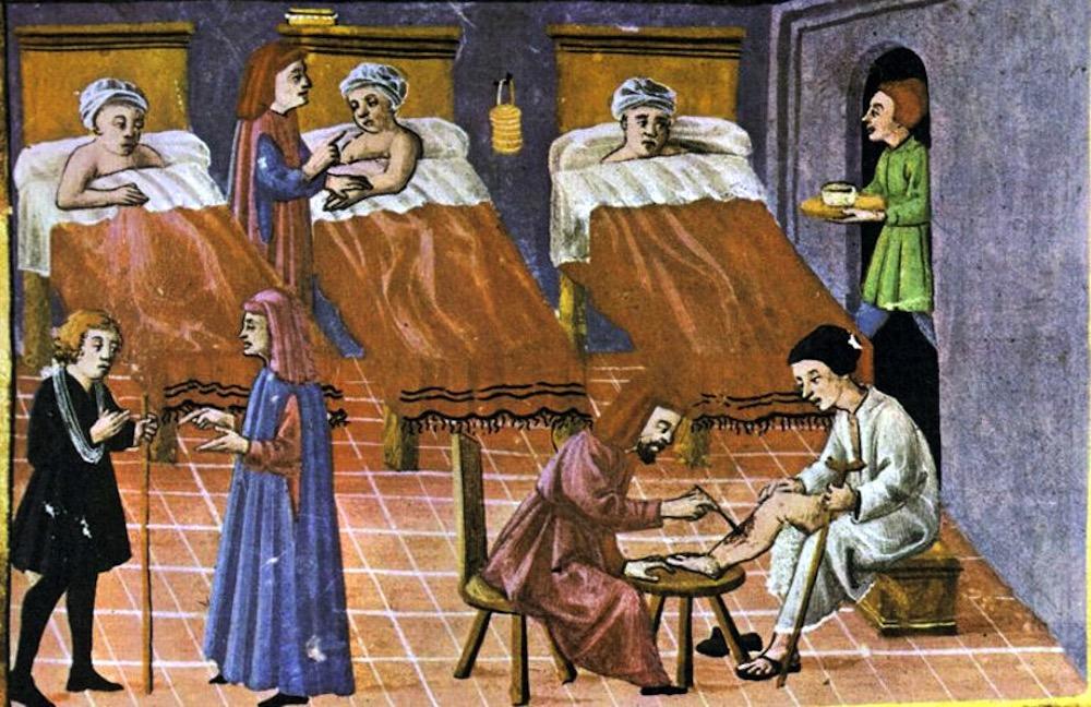¿Quién atendía a los enfermos y enterraba a los muertos de Peste Negra en la Edad Media?