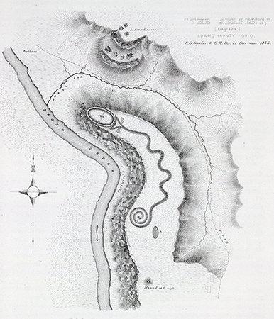Dibujo de Ephraim George Squier y E. H. Davis en Ancient monuments of the Mississippi Valley (1848)