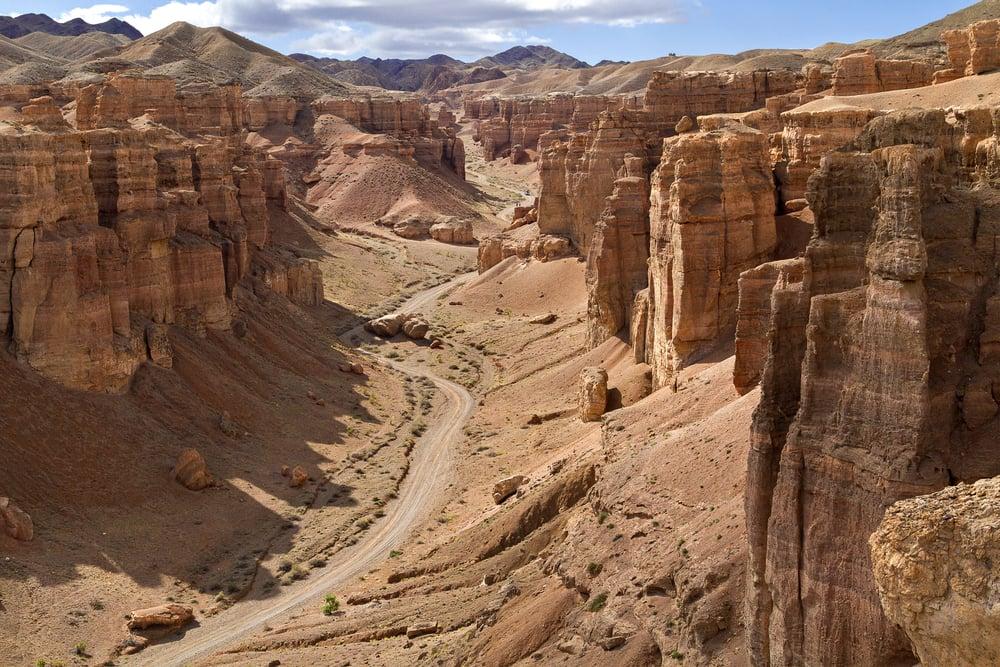 El cañon de Charyn, el equivalente asiático del Gran Cañón del Colorado