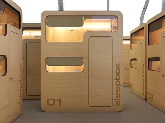 Sleepbox, cabinas para dormir en el aeropuerto