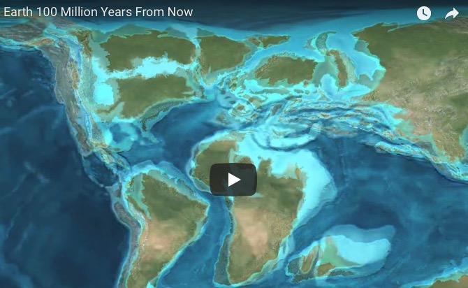 El aspecto de la Tierra dentro de 100 millones de años