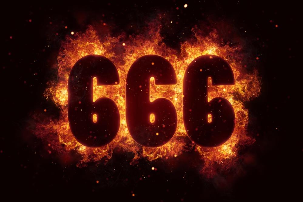 666, el número de la Bestia que originalmente era 616
