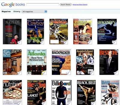 Revistas en Google Books