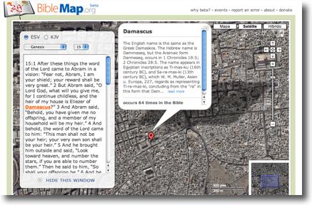 La Biblia en Google Maps