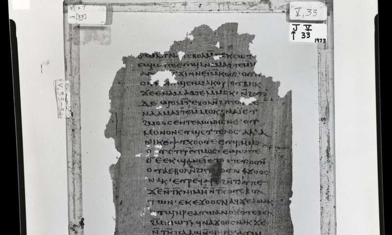 Investigadores encuentran fragmentos en griego del Primer Apocalipsis de Santiago