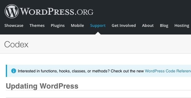Cómo actualizar a WordPress 2.1