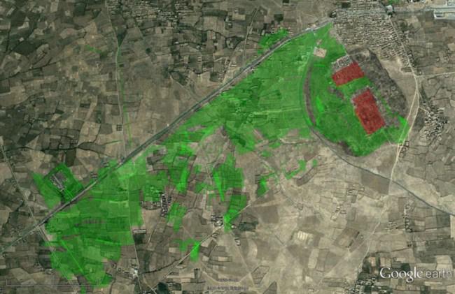 Utilizando Google Earth para localizar minas antipersona