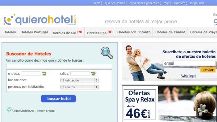 Quierohotel.com, completo buscador de hoteles