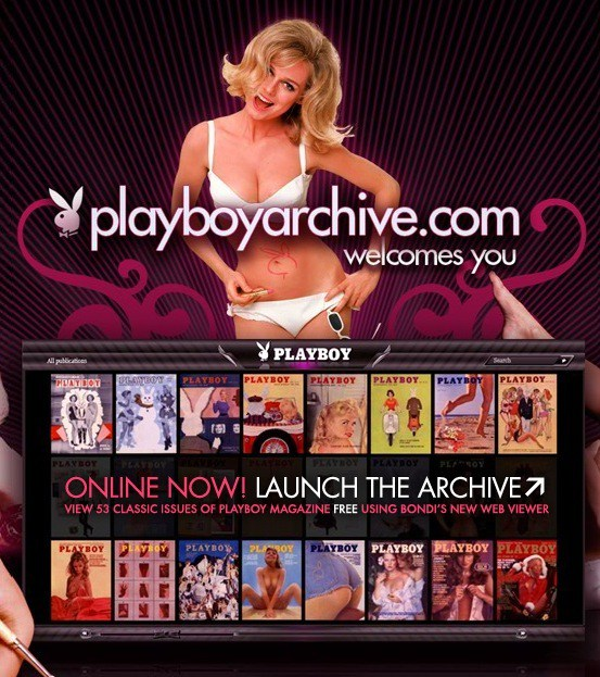 Playboy publica 54 números en internet, gratis