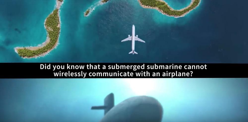 Desarrollan un sistema que permite las comunicaciones entre submarinos sumergidos y aviones