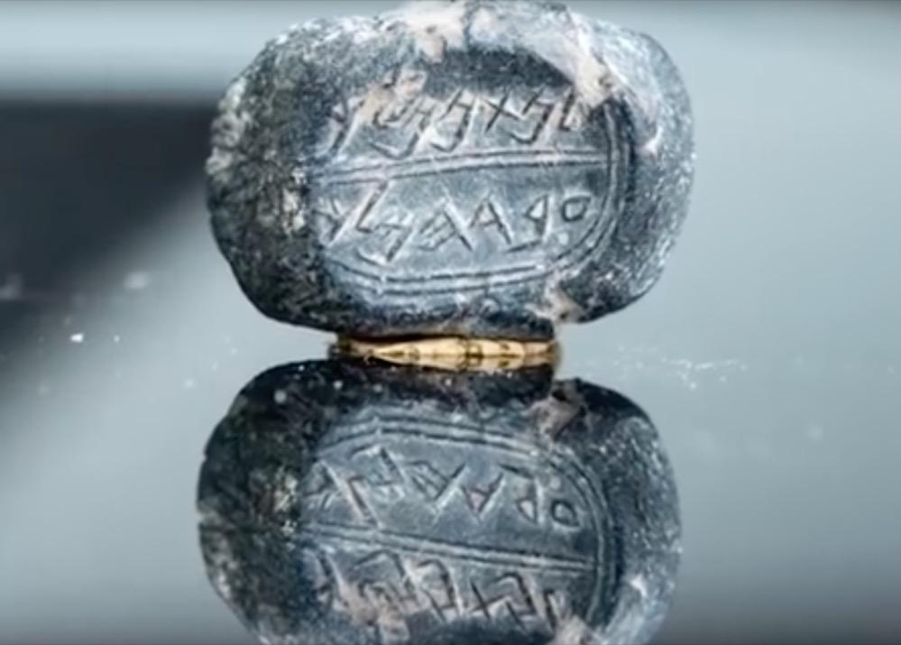 Encuentran en Jerusalén un sello con el nombre de un oficial mencionado en la Biblia