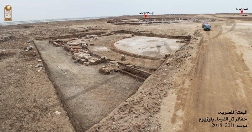 Encuentran el edificio del Senado de la antigua Pelusium en Egipto