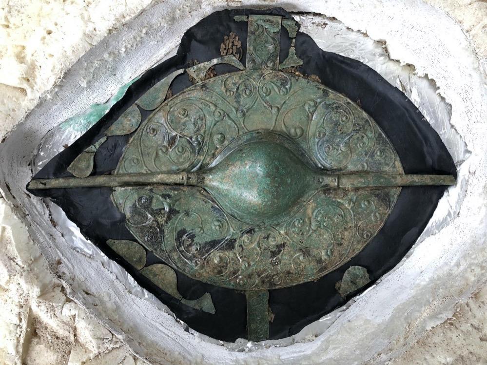 Encuentran en Inglaterra un impresionante escudo celta de la Edad del Hierro