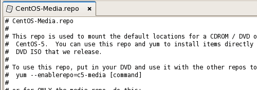 Install software from CentOS DVD configuration