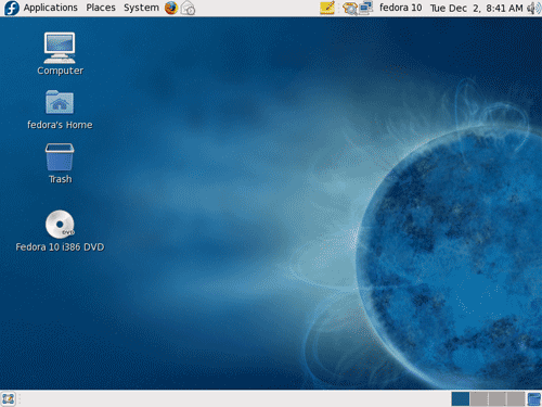 Default GNOME Desktop on Fedora 10