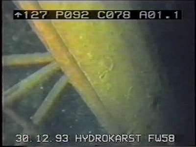 Photos de l'épave du FW 58C prise par HydroKarst