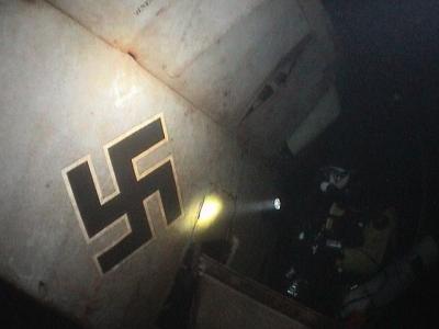 Épave de l'avion Nazi FW58C au Fond du Lac du Bourget
