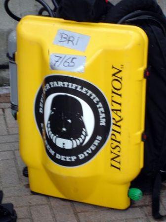 Le recycleur Inspiration de Brigitte pour plonger sur l'épave du Bananier